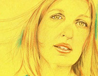 Retrato de Sandra C. / Portrait of Sandra with Colors