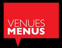 Venues Menus identity & directory