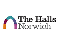The Halls Norwich - Logo and website design