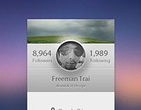 A Profile page.