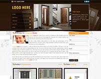 Door manufacturing company website (just design)