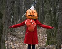 The Halloween story about Cardboard Pumpkin