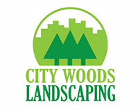 City Woods Landscaping Identity