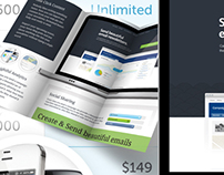 Email Marketing Trifold Brochure