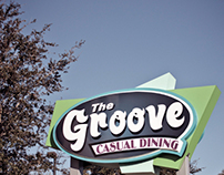 Groove Cafe - monument sign