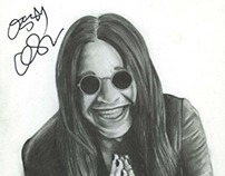 Realistic Drawing Process - Ozzy Osbourne