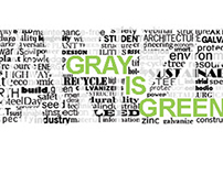 Gray is Green Direct Mail Piece