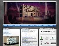 WEBDESIGN FOR KABINET NEZÁVISLÉHO FILMU 2011