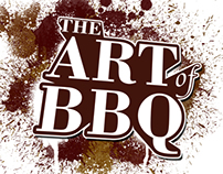 The Art of BBQ logo and sign design.