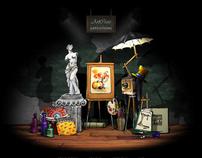 """ArtCross"" interactive virtual gallery. Trailer & pics"