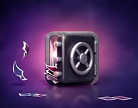 App Icon Design - 3D Safe or Vault by Creative Dash