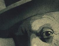 stencil (Pablo Picasso, photo of Irvin Penn).