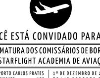 Convite de Formatura da turma de Comissários de Bordo