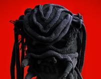 Custom knit mask - Predator version