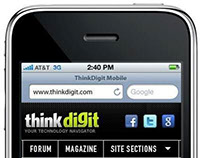 ThinkDigit: Mobile Website