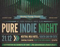 Pure Indie Night Flyer