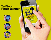 Opticana Eyewear - The iPhone Pinch Banner