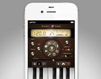 Rocket Piano UI design & concept for app.