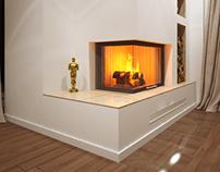 Corner Fireplace // Spartherm #1