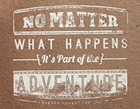 Forever Adventure Typographic Prints