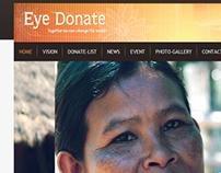 Eye-Donate Website Coding work