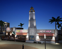 Commercial plaza and restaurant franchise