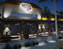 Comercial plaza and restaurant franchise