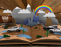 The Toyota Wild West Sales Event Pop-up Book