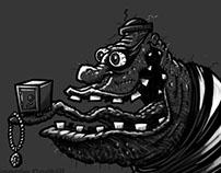 Burglar Lowbrow Cartoon Character Sketch