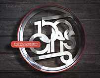 Novoceram '150-year anniversary' logo