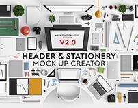 Header & Stationery Mock Up Creator