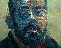 ¨self portrait¨ oil on canvas