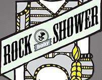 Afiche Rock Baby Shower