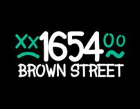 1654 Brown Street - Font