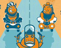 Ilustrations creaded for CHAKOTA magazine