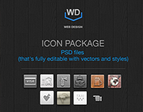 Nine styles quality / PSD icons for site