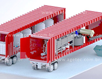 Watewater treatment - mobile station