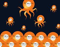 Restaurant Octosushi, branding, print & web design