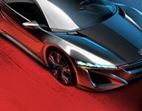Media/Press illustrations for Honda R&D