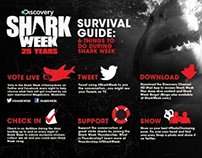 Shark Week 25 years Survival Guide Infographic