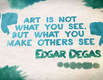 Watercolor Quotes After Effects template
