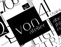 Von Atelier typeface