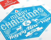 Typography Christmas Card 2013