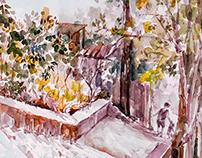 Watercolours. Landscapes.