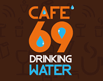 Label Drink Water Cafe'69