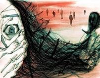 Horror movie illustration