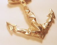Silver Anchor 3D print