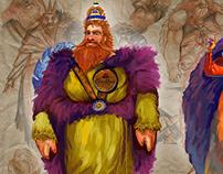 Crown Royal Character Sketches