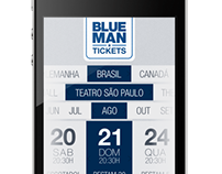 Blue Man Group - Interface Mobile do App Tickets