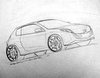 freehand car drawings